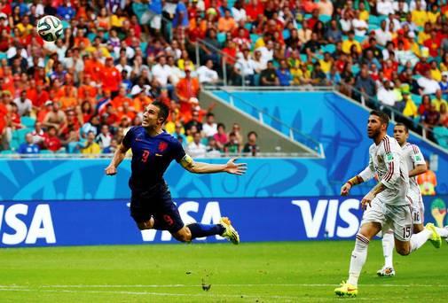 Samenvatting Spanje-Nederland (1-5) WK 2014